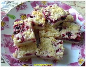 Печенье с творожно-ягодной начинкой