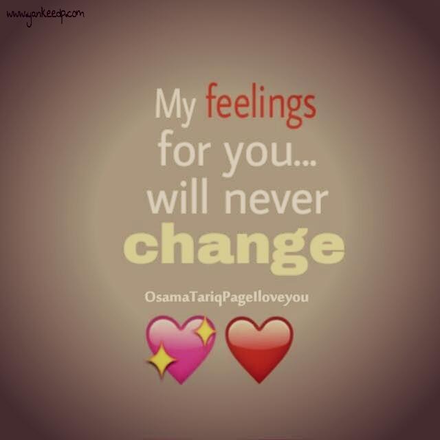 my feeling for you naver chnge