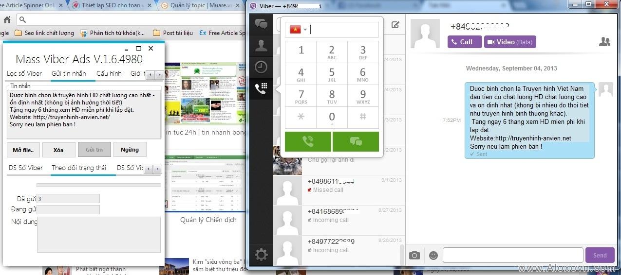 Bán phần mềm quảng cáo Viber, Zalo, Kakao Talk, Line tốt nhất