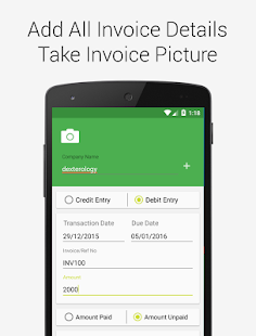 Debit Credit Invoice Reminder- screenshot thumbnail