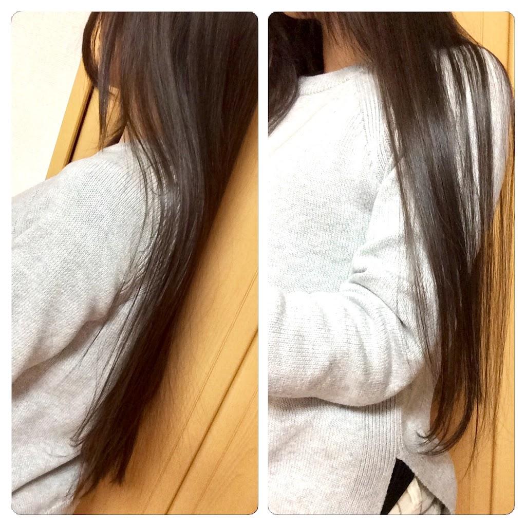 長かった髪