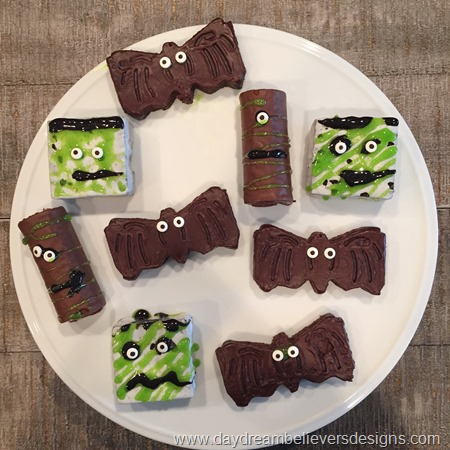 Semi Homemade! Fun Halloween treats made from packaged lunch cakes! LOVE!