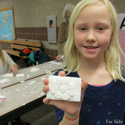 Brookes soap carving