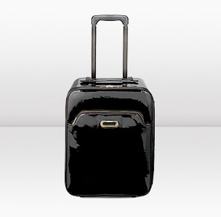 jimmy choo black patent suitcase