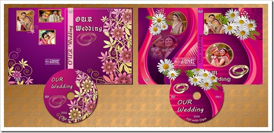 indian wedding dvd disc and case cover psd