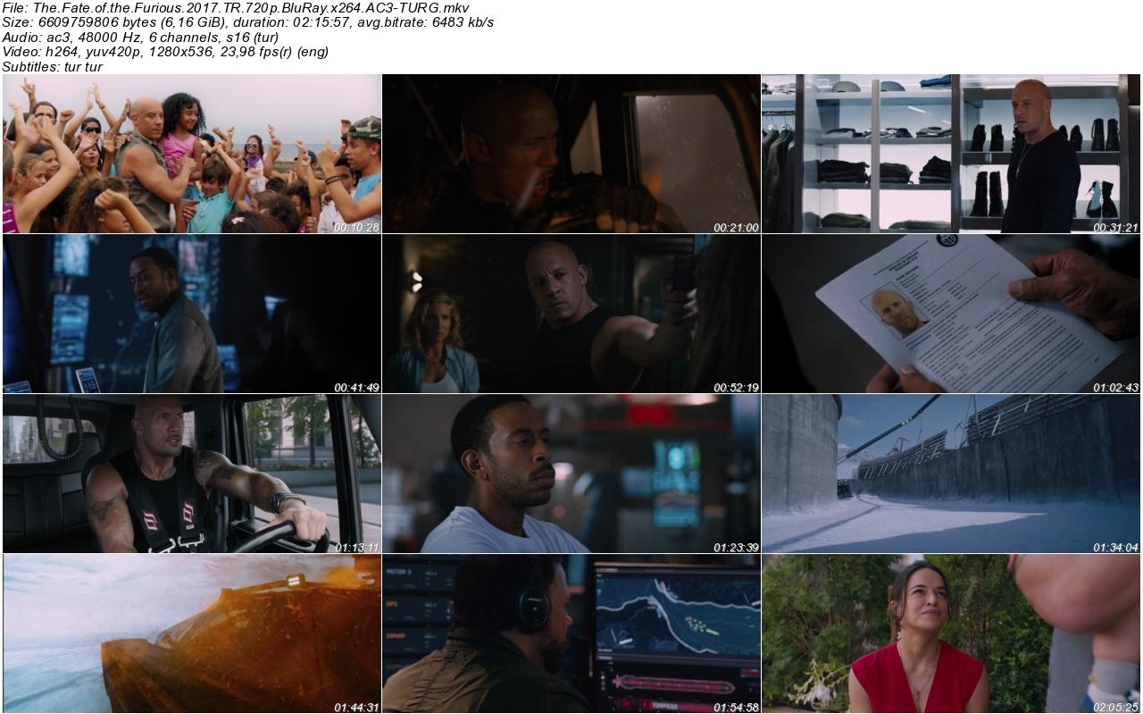 Hızlı ve Öfkeli 8 2017 - 1080p 720p 480p - Türkçe Dublaj Tek Link indir