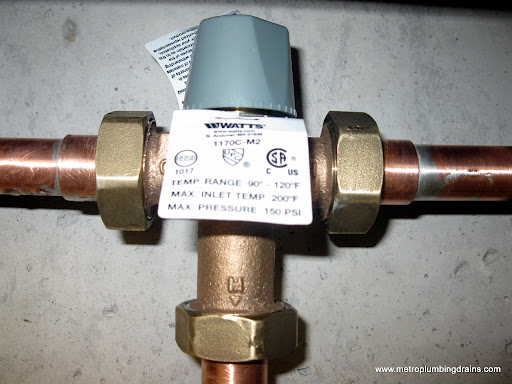 Replace Hot Water Mixing Valve