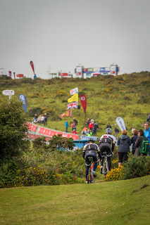 The finish at Haytor gets some early morning activity