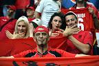 Albán szurkolók a franciaországi labdarúgó Európa-bajnokság Franciaország - Albánia mérkőzésen, Marseille, 2016. június 15. (MTI Fotó: Illyés Tibor)