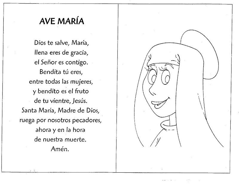 Ave María para colorear