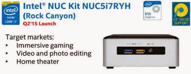 Máy tính để bàn mini Intel NUC với chip Core i7 Broadwell, đồ họa Iris sẽ có mặt trong Quý 2/2015