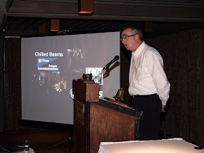 "Photo: Program for the night was ""Chilled Beam Technology"" as presented by Joel Hirsh of Titus"