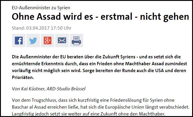 EU Ohne Assad wird es nicht gehen