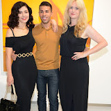 WWW.ENTSIMAGES.COM -   Marina and the Diamonds and Emily Bryce-Perkins  at   Julio Larraz - Rules of Engagement - private view at Contini Art UK, London October 2nd 2014Private view of exhibition devoted to the paintings by Cuban born artist Julio Larraz, his first major solo exhibition in London, featuring paintings, sculptures and caricatures.                                                Photo Mobis Photos/OIC 0203 174 1069