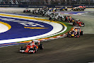 2015 Singapore GP going into 2nd corner