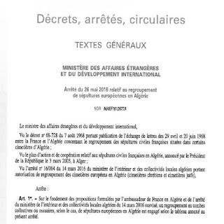 Algérie: Les sépultures juives regroupées en tombes collectives, la France appelle à leur rapatriement