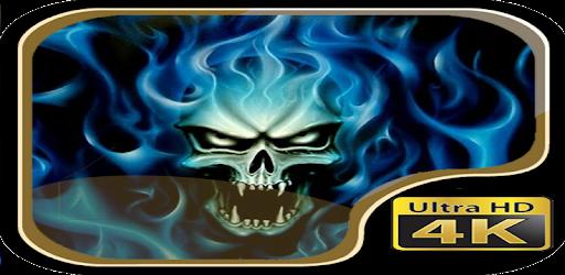 Descargar Blue Fire Skull Wallpaper Para Pc Gratis última