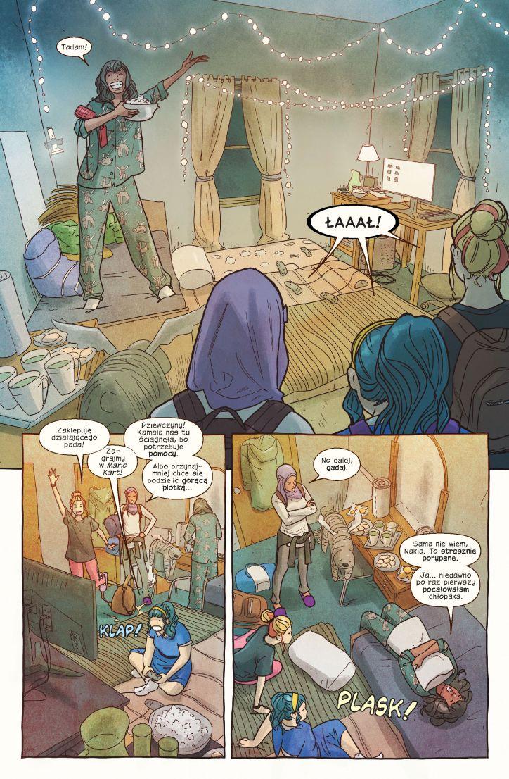 Ms Marvel tom 10 przykładowa strona