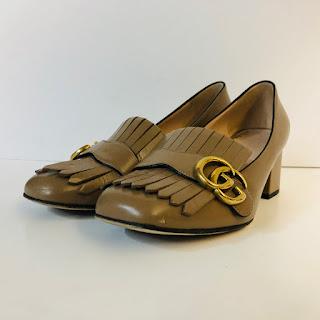 Gucci Marmont GG Block Heel Pumps