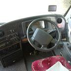 Het dashboard van de Volvo van Compass Royston (GB)