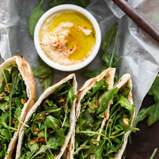 Olive Tapenade and Hummus Stuffed Pita.