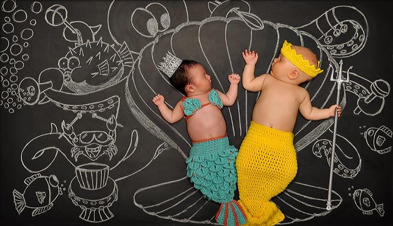 *嬰兒的奇幻黑板冒險:趁熟睡中惡搞一番! 5