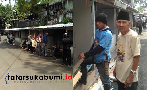 Pasar Geledog Jalan Dewi Sartika Sukabumi / Foto : Rapik Utama (24/1/2019)