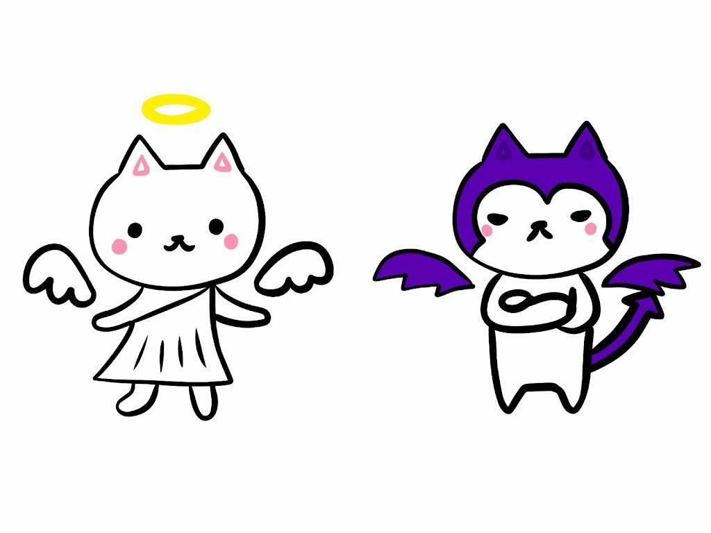 天使と悪魔の猫