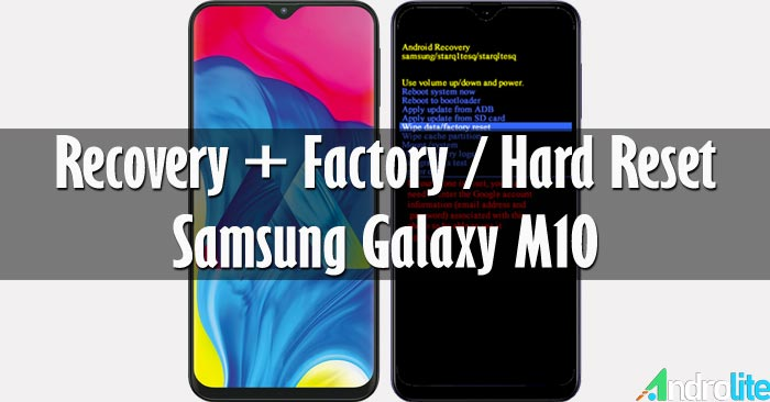Recovery Mode + Hard Reset Samsung Galaxy M10