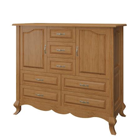 Orleans Wardrobe Dresser, Calhoun Maple