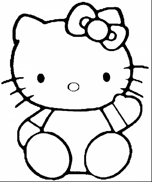 Awesome Hello Kitty Coloring Pages For Girls With Simple Coloring Pages And Simple  Coloring Pages For