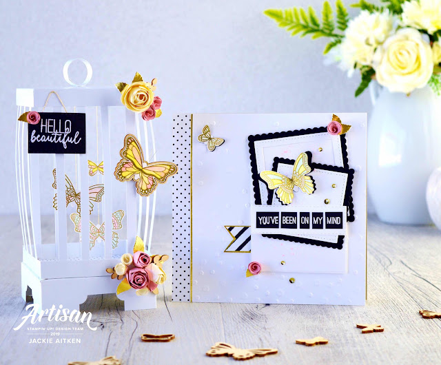 Stampin' Up!, Artisan Design Team 2019, Gingham Gala Suite, Botanical Butterfly DSP, Butterfly Gala, Birdcage, Butterfly Card,