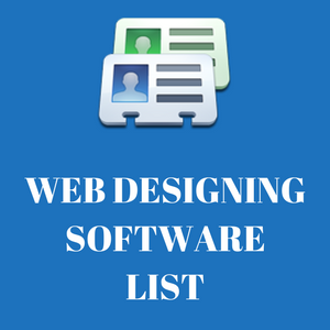 web designing software list