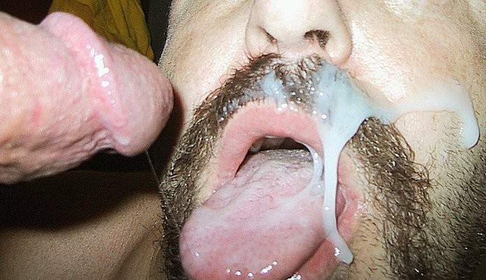 Men tasting own cum