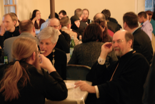 Faithful enjoy sharing in fellowship.