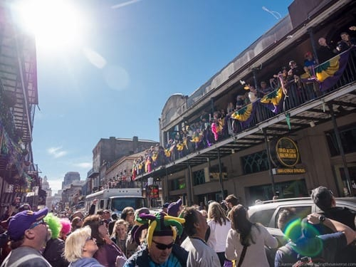 Bourbon Street Party New Orleans Mardi Gras