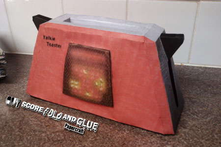 Red Dwarf Talkie Toaster Papercraft