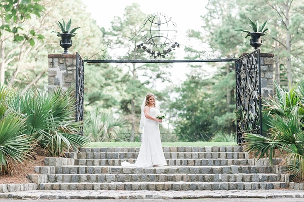From Beautifully Crafted Iron Gates Stone Walls Fountains And The Rose Garden Tiffany S Bridal Session With Christina Forbes Photography Was Nothing
