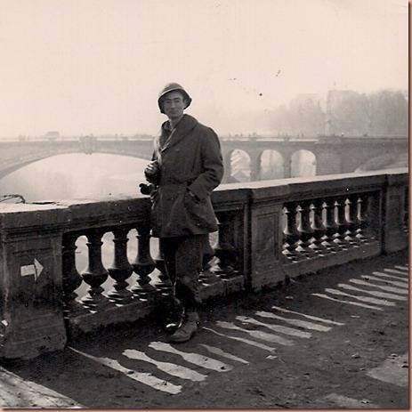 Ernest L. Margheim in Luxembourg, 1944