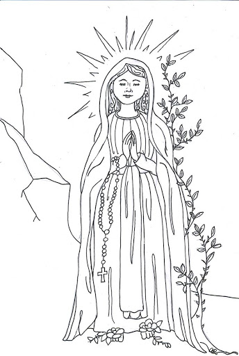 Best HD Our Lady Of Guadalupe Coloring Page Heart With Wing Images ...
