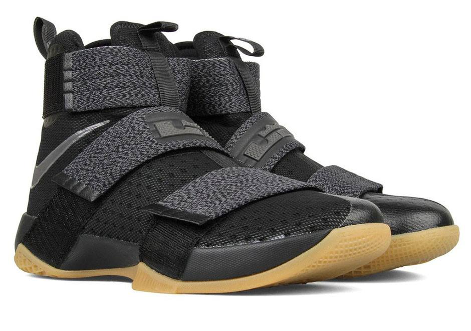low priced 24e6f c8054 Available Now Nike LeBron Soldier 10 Black Gum ...