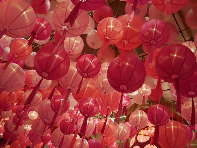 pink Chinese lanterns