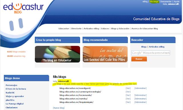nuestros blogs de educastur
