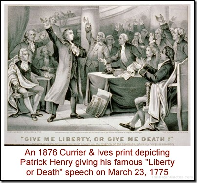 Currier & Ives depiction of Patrick Henry