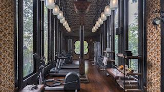 Ruangan fitnes Capella Ubud