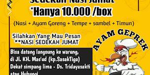Yuk Ikut Program Jum'at Berkah Rp. 10.000/porsi Dengan Geprek Bismillah