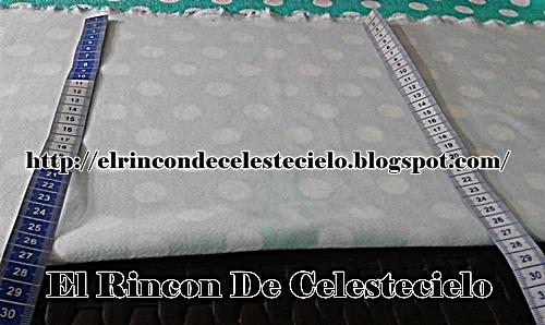 Medir a todo lo largo de la tela la misma medida para el ancho al colocar los patrones