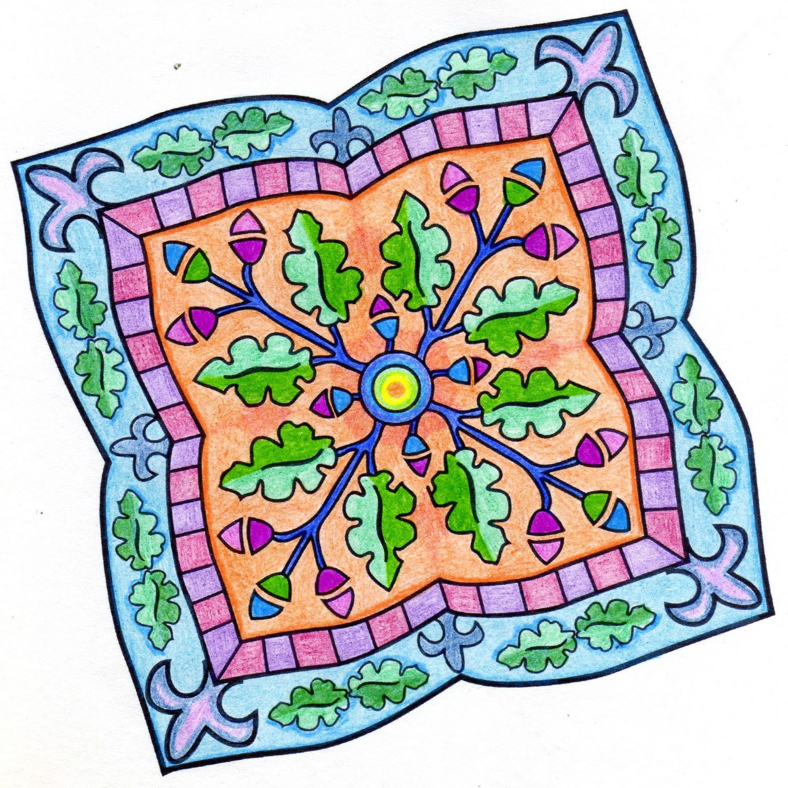 El delirio del lirium mandalas pintando dise os ajenos 1 for Disenos de mandalas