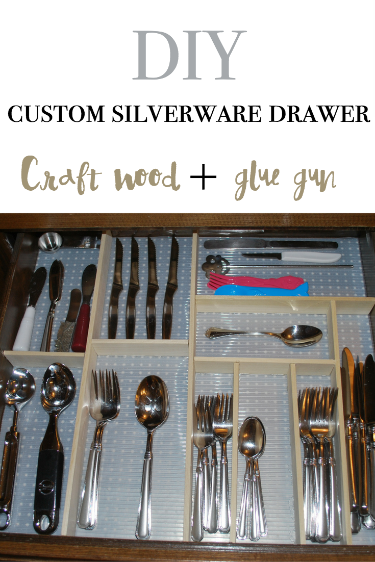 DIY custom silverware drawer