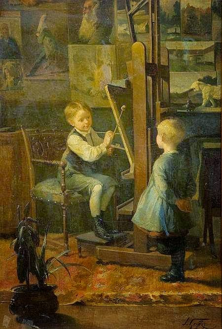 Henry Jules Jean Geoffroy - In the Artist's Studio